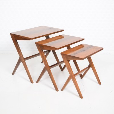 Y Frame Nesting Table by Unknown Designer for Unknown Manufacturer