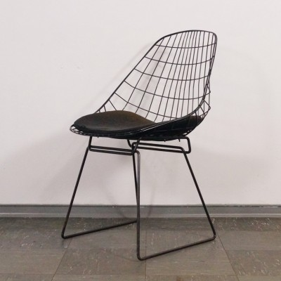 Superbe Wire 420 Office Chair By Harry Bertoia For Knoll International, 1960s