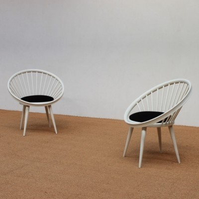 Pair Of Circle Lounge Chairs By Gessef, 1960s