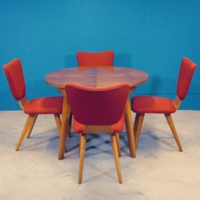 Cor Alons chairs / Pastoe table Dinner Set by Cees Braakman for Pastoe