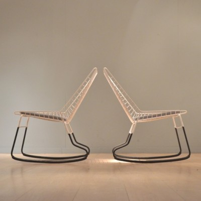 SM05 Flamingo Rocking Chair by Cees Braakman for Pastoe