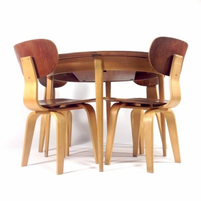 SB02 Chairs / TB05 Extendable Table Dinner Set by Cees Braakman for Pastoe