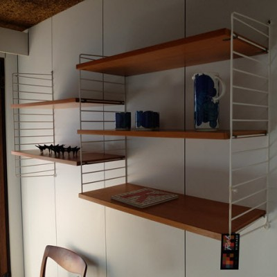String Shelf System Wall Unit by Nisse Strinning for String Design AB