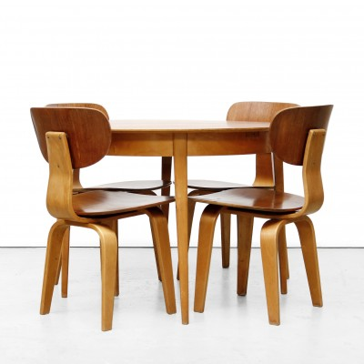 SB02 chairs and TB35 table Dinner Set by Cees Braakman for Pastoe