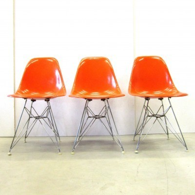 Fiberglass Dinner Chair by Charles and Ray Eames for Herman Miller