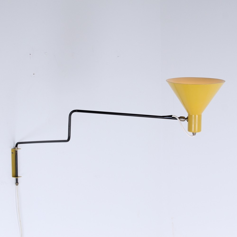 Elbow Paperclip Wall Lamp from the fifties by J. Hoogervorst for ...