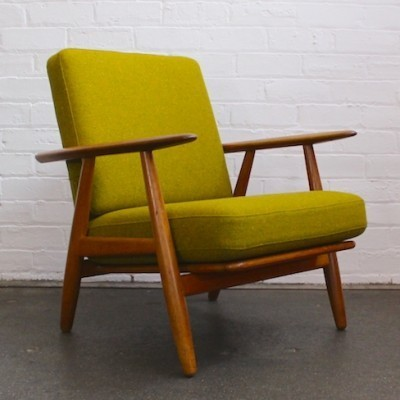 Cigar Chair Model GE-240 Lounge Chair by Hans Wegner for Getama
