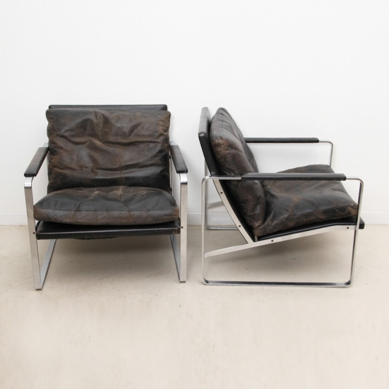 15bc3c24d3f7 Pair of FK 6720 lounge chairs by Preben Fabricius   Jørgen Kastholm for  Kill International