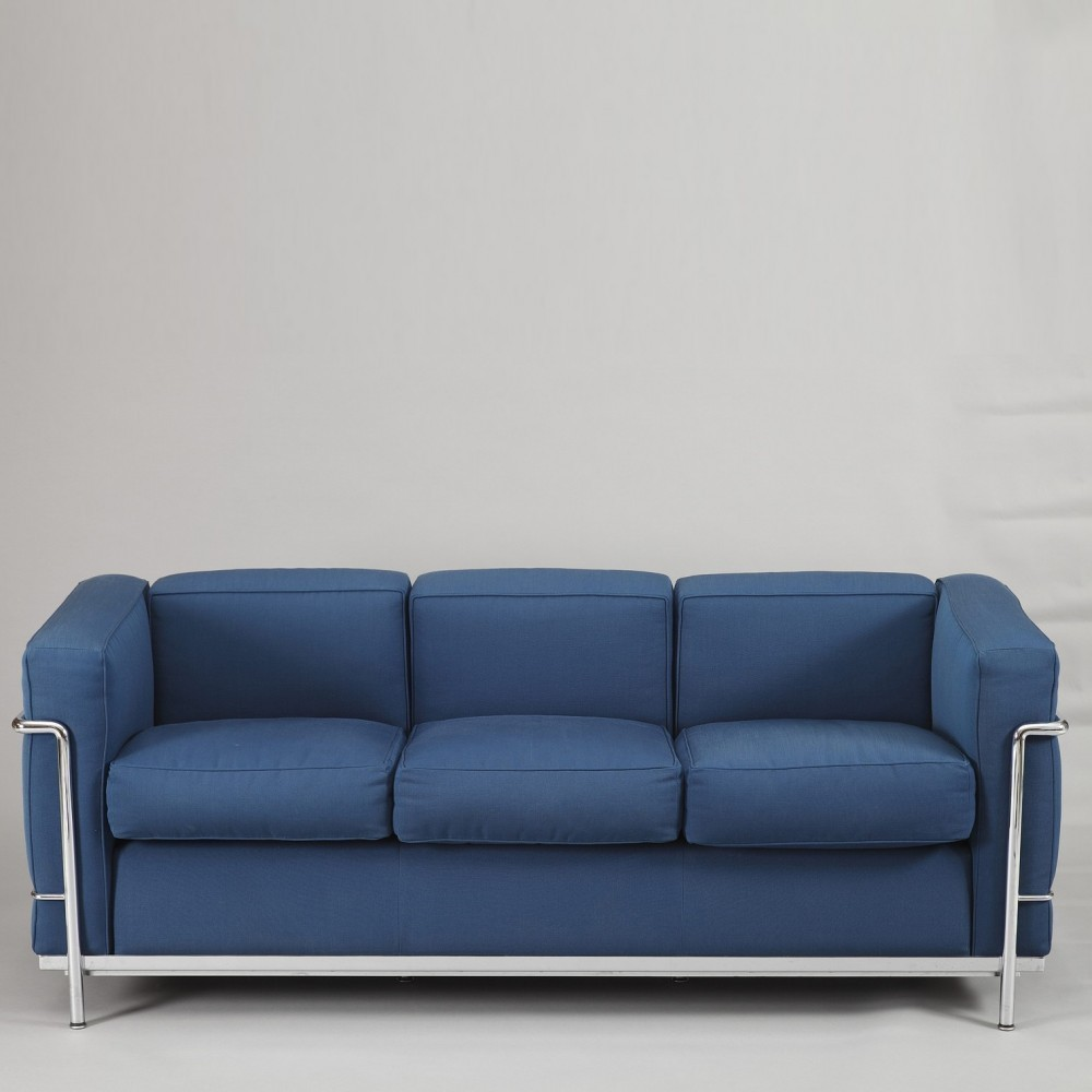 LC2 3 Seats sofa by Le Corbusier for Cassina, 1990s | #33258