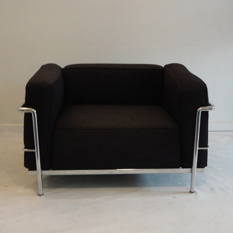 2 X LC 3 Lounge Chair By Le Corbusier For Cassina, 1970s