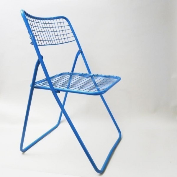 Outstanding Blue Ted Net Dining Chair By Niels Gammelgaard For Ikea Squirreltailoven Fun Painted Chair Ideas Images Squirreltailovenorg