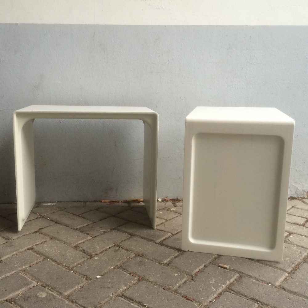pair of model 621 side tables by dieter rams for vitsoe 1960s