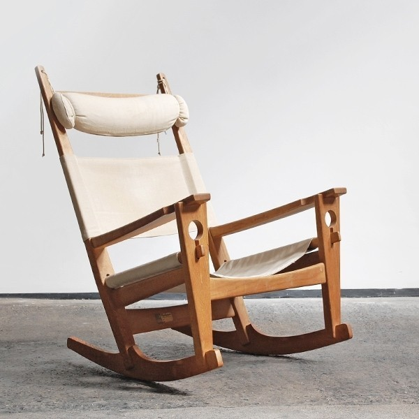 Keyhole Rocking Chair by Hans Wegner for Getama