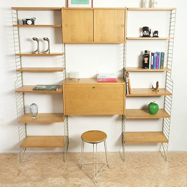 String Ladderback Wall Unit by Nils Strinning and Kajsa Strinning for String Design AB