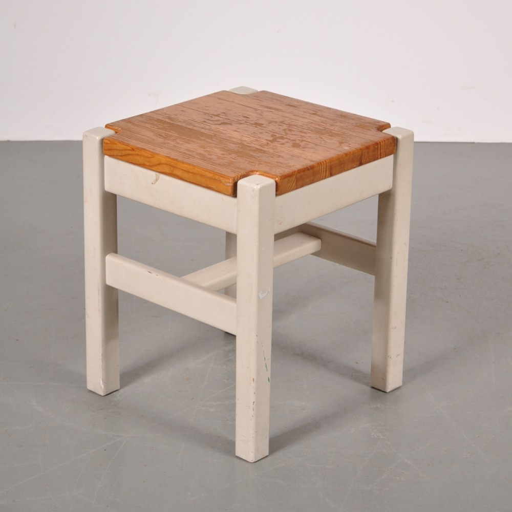 Stool by Ilmari Tapiovaara for Laukaan Puu Finnland