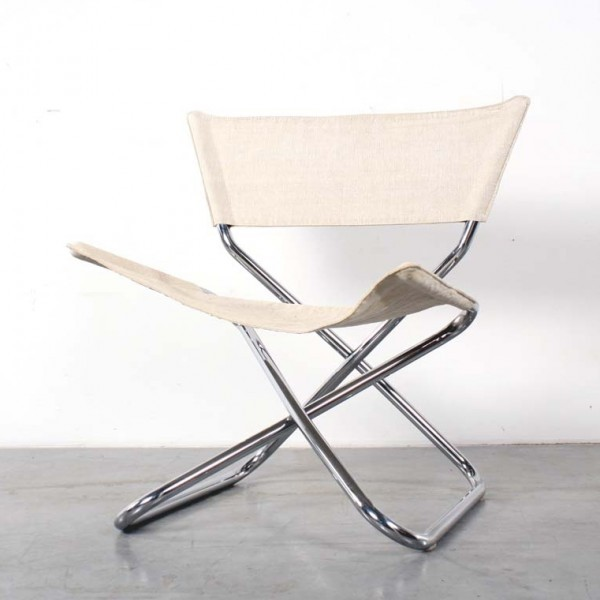 Z Down Folding Lounge Chair by Erik Magnussen for Unknown Manufacturer