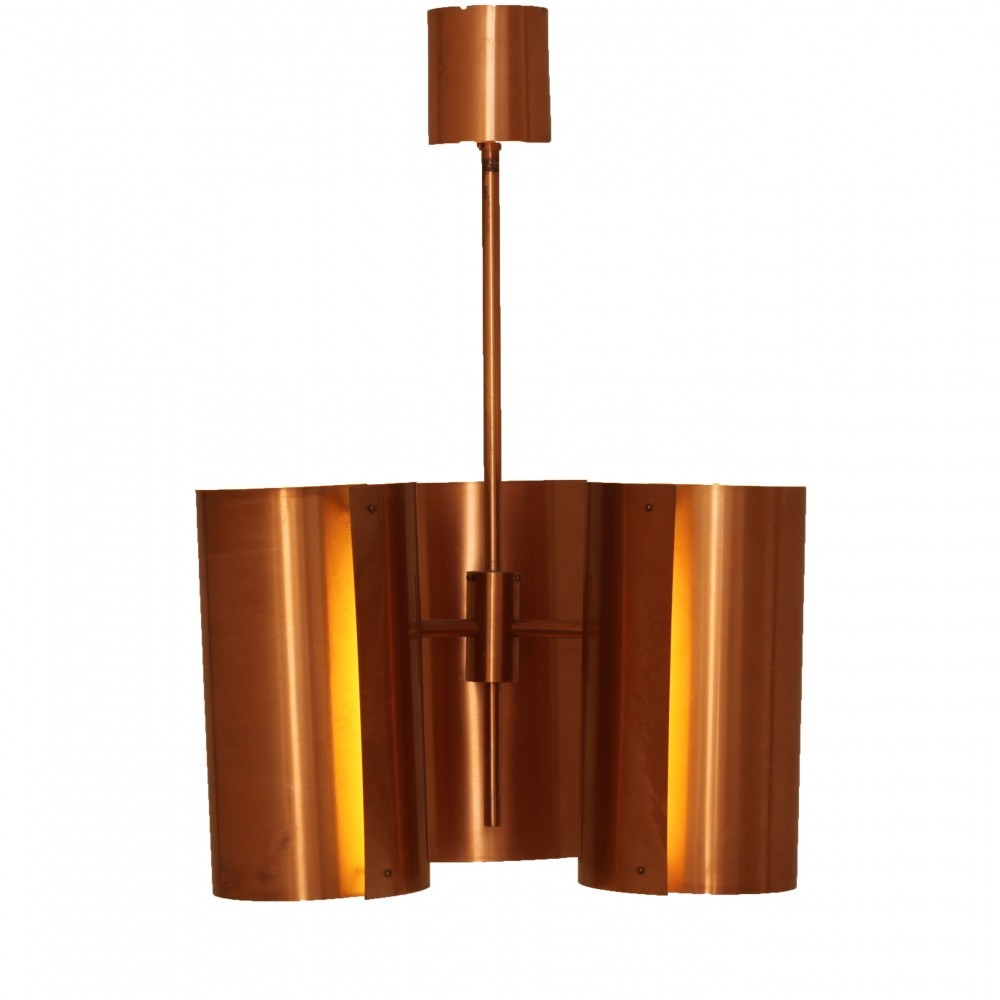 Orange hanging lamp - 2 X Hans Agne Jakobsson Hanging Lamp 1950s