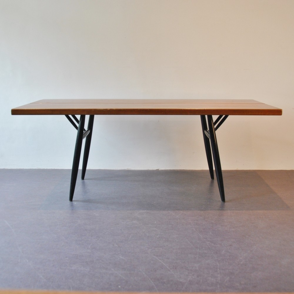 Pirkka Dining Table by Ilmari Tapiovaara for Laukaan Puu Finnland