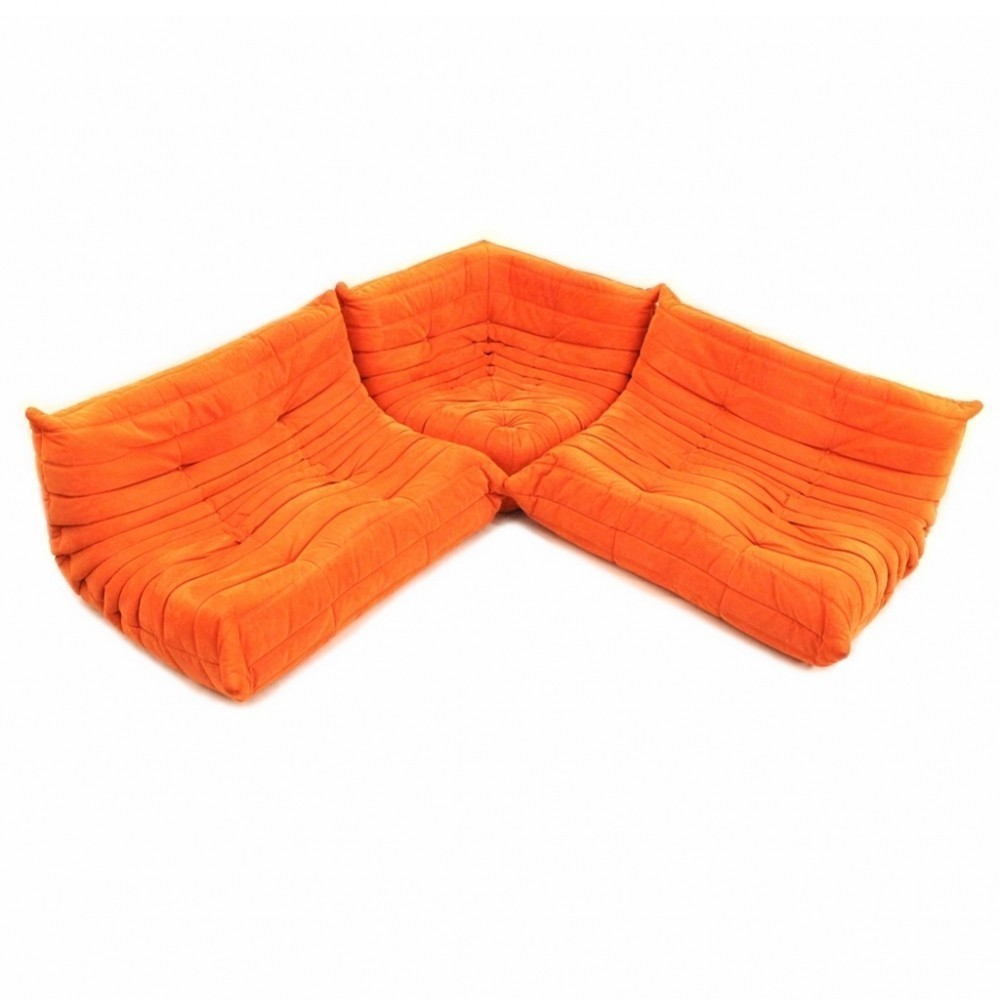 Set of 3 Togo sofas from the seventies by Michel Ducaroy for Ligne Roset
