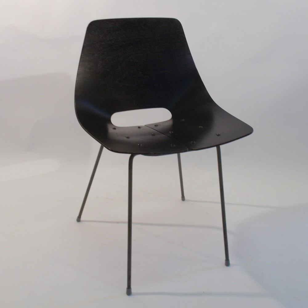 Toneau Dinner Chair by Pierre Guariche for Steiner Meubles