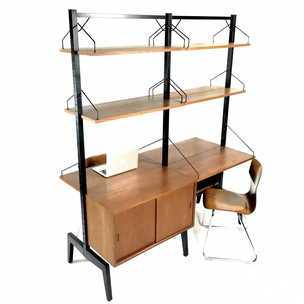 Royal Room Divider / Office Unit Wall Unit By Poul Cadovius For Cado, 1950s
