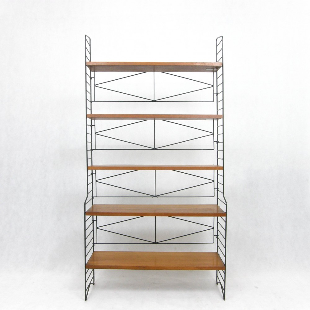 Free Standing Shelves Cabinet by Nisse Strinning for String Design AB