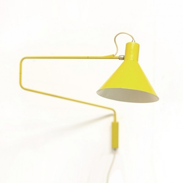 Paperclip / Elbow Wall Lamp by J. Hoogervorst for Anvia Almelo