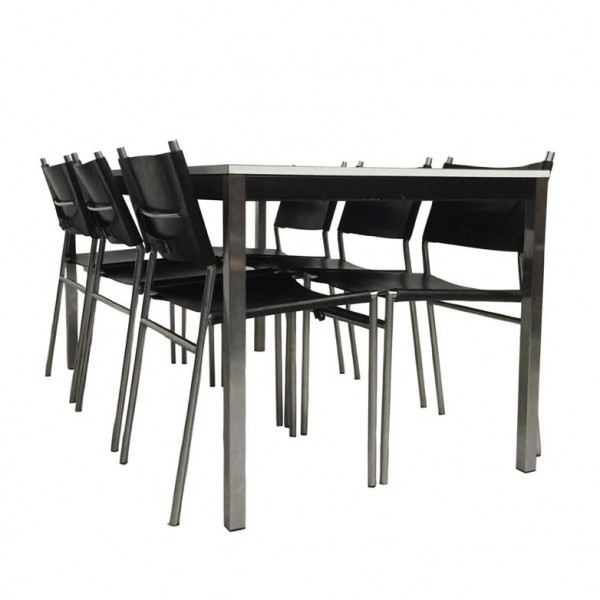 Chairs se06 and table te52 dinner set by martin visser and for Table 52 brunch menu