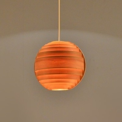 Pine Lamello Hanging Lamp by Hans Agne Jakobsson for Markaryd