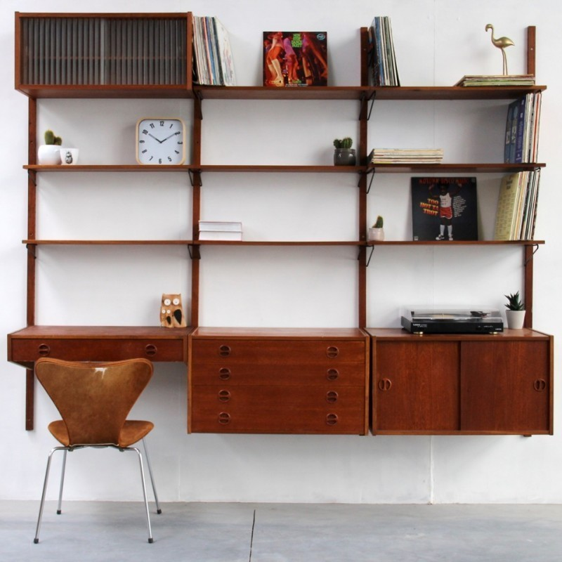 Royal System Wall Unit by Poul Cadovius for Royal System