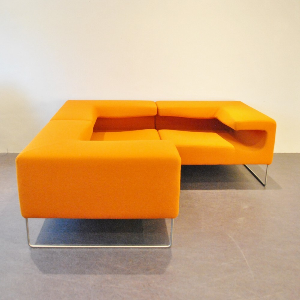 3 Lowseat lounge chairs from the nineties by Patricia Urquiola for Moroso Italy