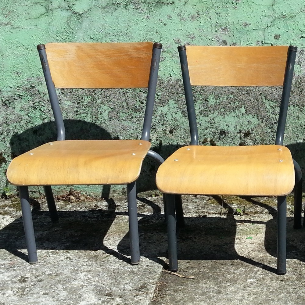 Vintage Toddler School Chairs, 1960s