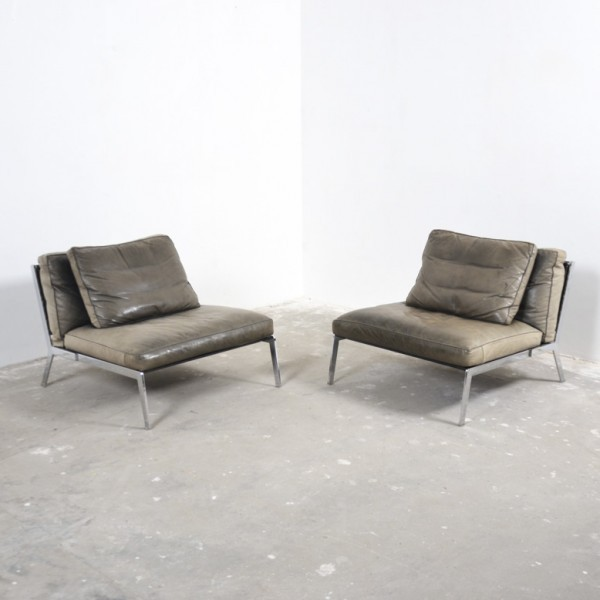 Pair Of Happy Lounge Chairs By Antonio Citterio For Flexform