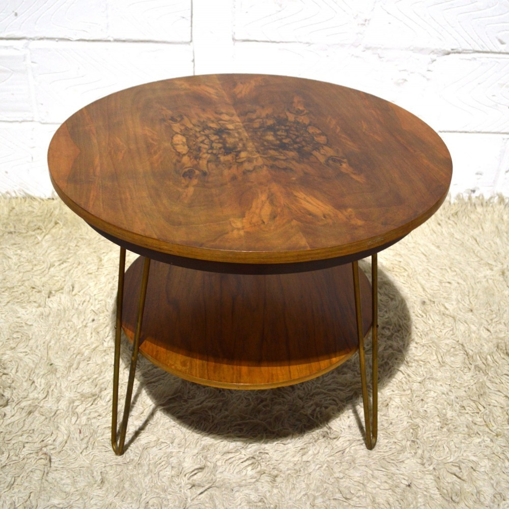 Revolving side table by unknown designer for unknown for Revolving end table