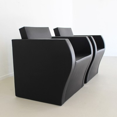 2 Elementaire 1 arm chairs from the nineties by Jean Nouvel for Ligne Roset