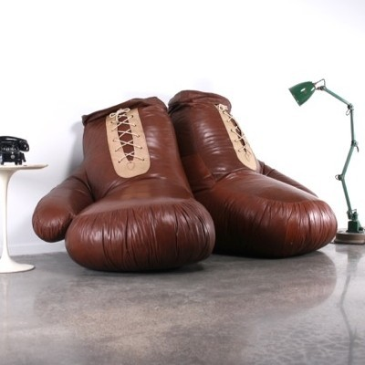 Boxing Gloves Lounge Chair By Unknown Designer For Unknown