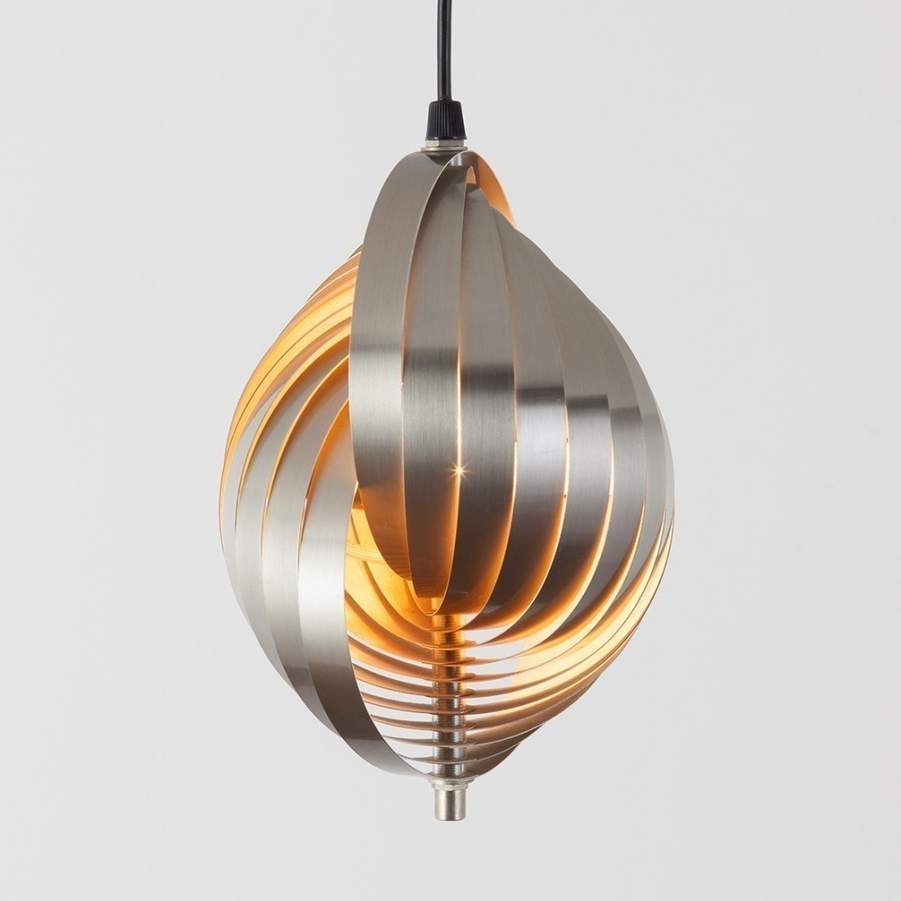 twirling pendant hanging l by henri mathieu for unknown