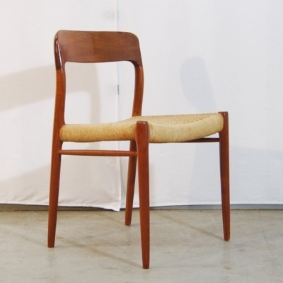 No 75 Dinner Chair by Niels Otto Møller for Moller