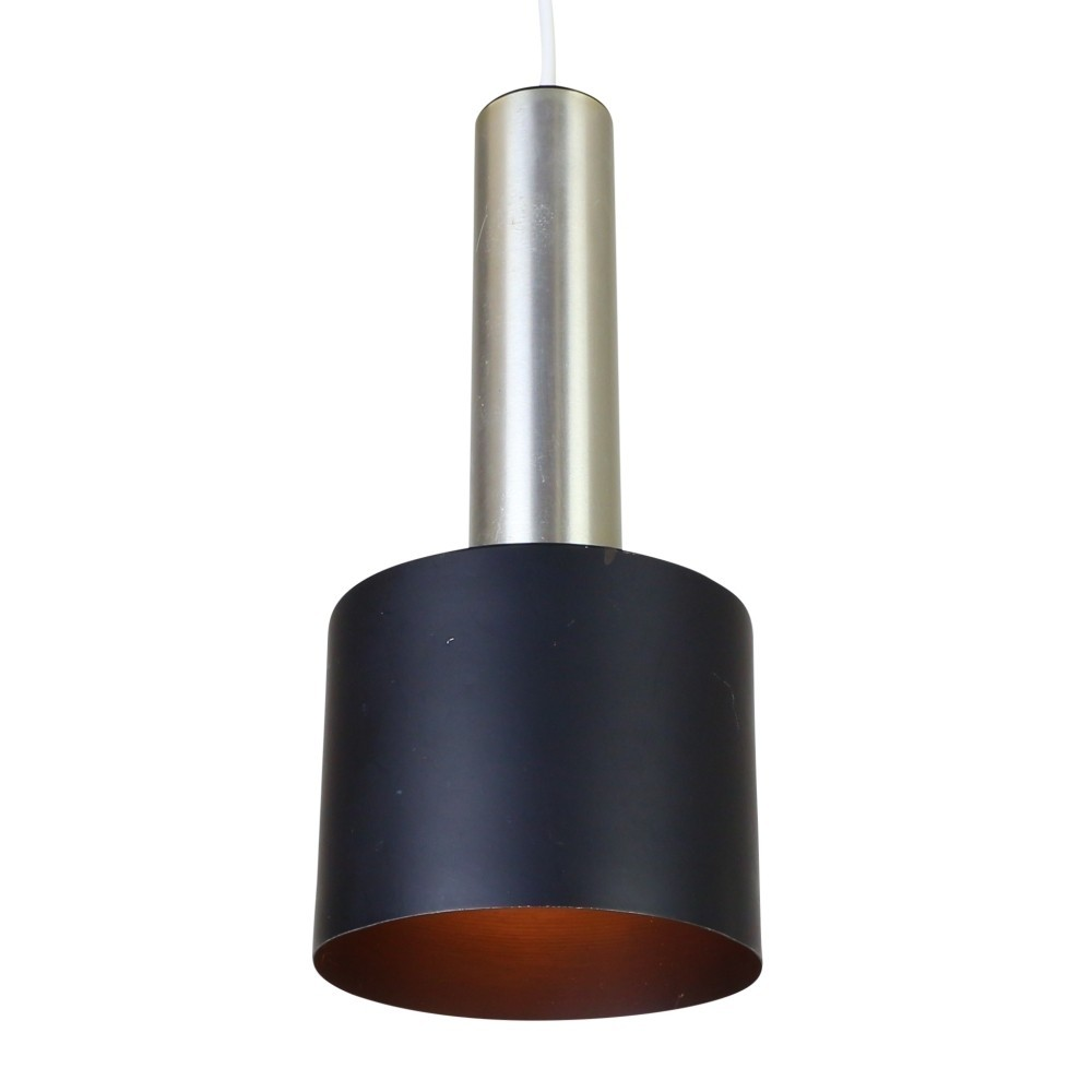 Minimalist cylindrical pendant hanging lamp, 1960s | #43072 for Cylinder Hanging Lamp  166kxo