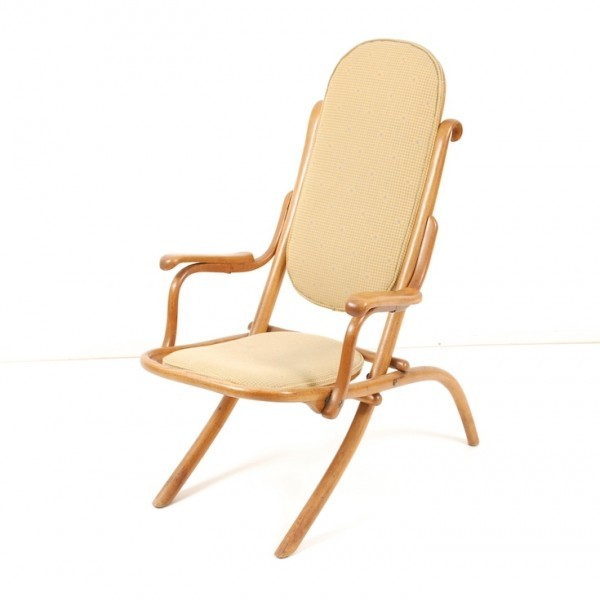 Folding Chair Lounge Chair by Gebr. Thonet for Thonet