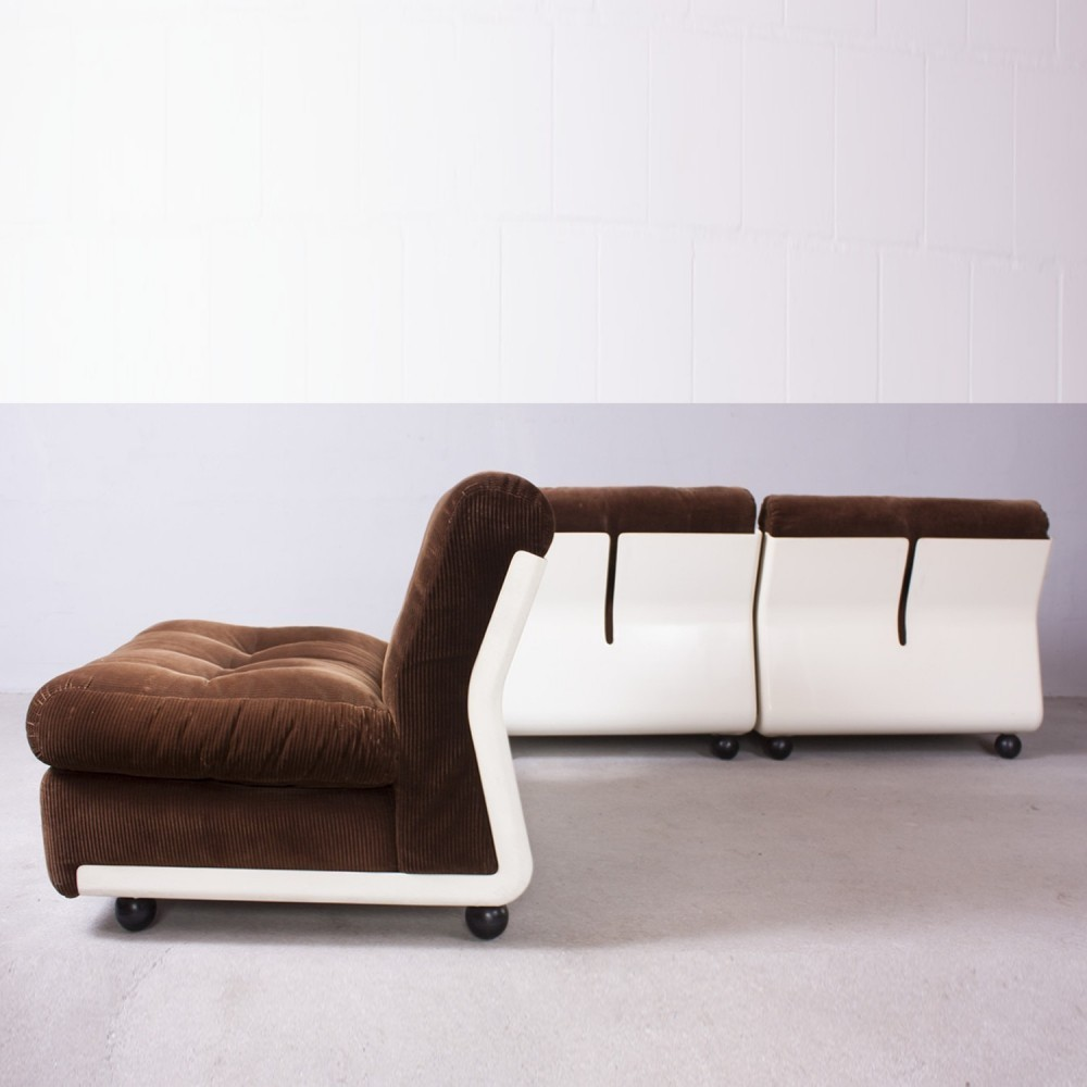 Set of 3 Amanta sofas from the seventies by Mario Bellini for C & B Italia