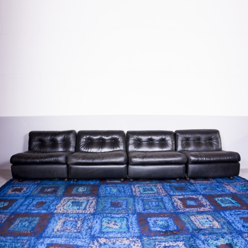 Set of 4 Amanta sofas from the seventies by Mario Bellini for C & B Italia