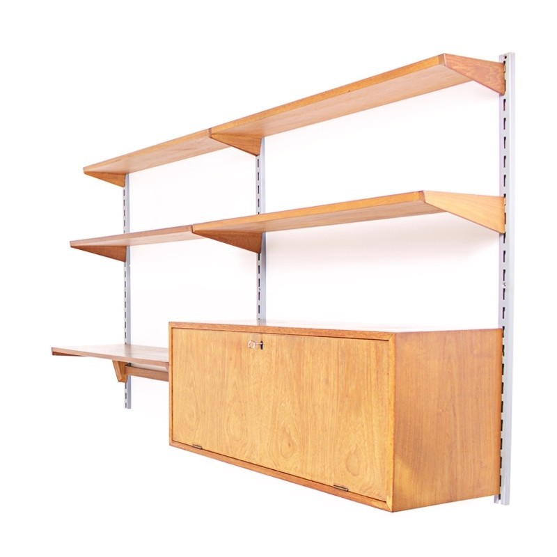 Wall unit by Kai Kristiansen for Feldballes Møbelfabrik, 1960s