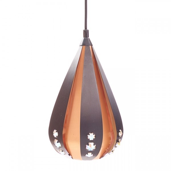 P112 PB2 hanging lamp by Werner Schou for Coronell Elektro Denmark, 1960s
