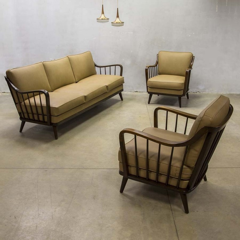 seating group by walter knoll for knoll antimott 1950s 44077. Black Bedroom Furniture Sets. Home Design Ideas