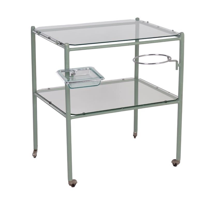 Charmant Industrial Medical Table Serving Trolley, 1950s