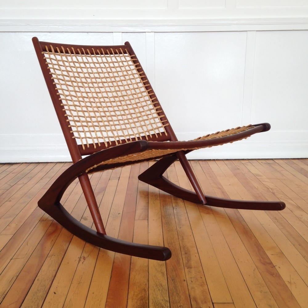 Rocking chair by Fredrik Kayser for Vatne Møbler, 1950s