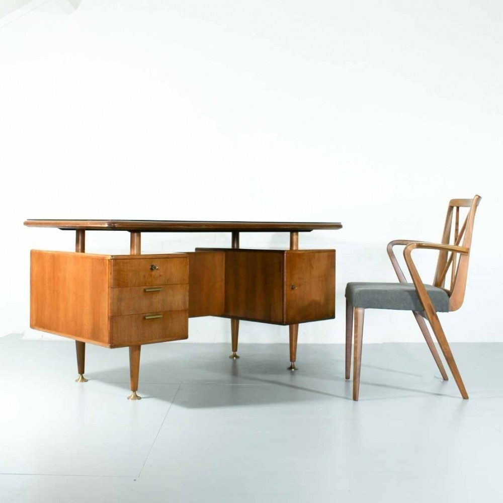 Writing desk by A. Patijn for Zijlstra Joure, 1950s