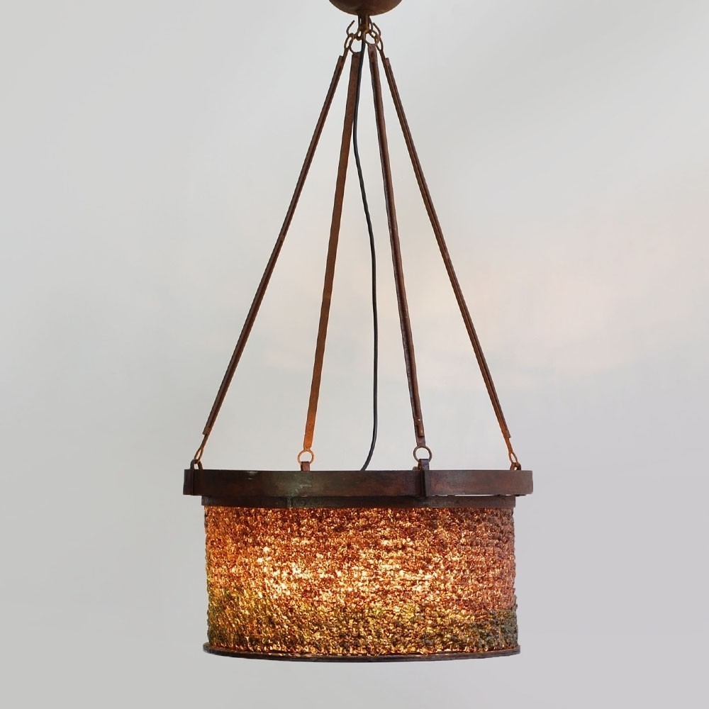 Charming Bohemian Chandelier Hanging Lamp, 1950s
