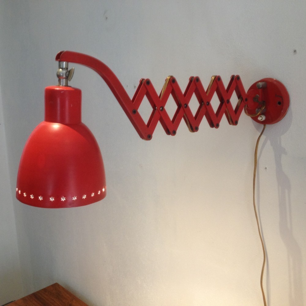 Scissor Wall Lamp by H. Busquet for Hala Zeist